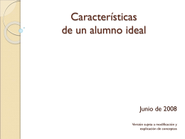 Características de un alumno ideal