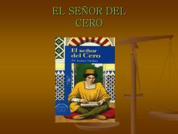 EL SEÑOR DEL CERO - PLAN LECTOR I.E.S. MURIEDAS |