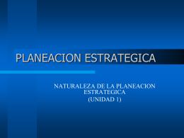 PLANEACION ESTRATEGICA - Planeación Estratégica