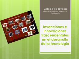 Principales Invenciones (Inventores y