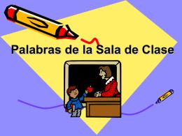 Palabras de la Sala de Clase