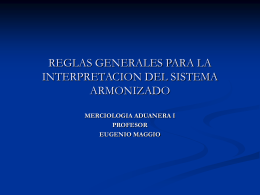 REGLAS GENERALES PARA LA INTERPRETACION DEL