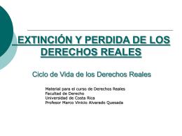 EXTINCIÓN Y PERDIDA DE LOS PERDIDAS REALES