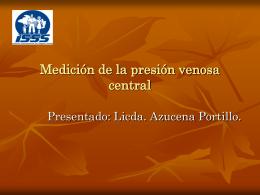 Medición de la presión venosa central