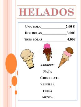 Una bola______________2,00 € Dos bolas