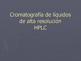 Cromatografía de líquidos de alta resolución -
