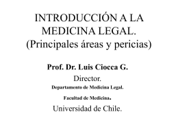 INTRODUCCIÓN A LA MEDICINA LEGAL. (Principales