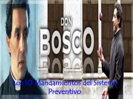Los Diez mandamientos del Sistema Preventivo