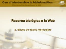 Tema 1: Introducción a la Biocomputación