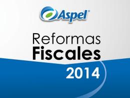 Reforma Fiscal 2014 - Bienvenido a Aspel