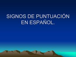 PUNTUACIÓN EN ESPAÑOL.
