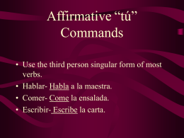 "Negative ""tú"" commands"