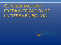 Estructura agraria y políticas públicas en Bolivia