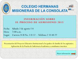 COLEGIO HERMANAS MISIONERAS DE LA CONSOLATA