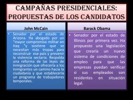 CAMPAÑAS PRESIDENCIALES: PROPUESTAS DE LOS