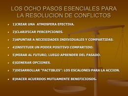 CINCO ENFOQUES POPULARES PARA RESOLVER CONFLICTOS