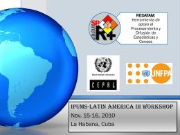 REDATAM, una herramienta de apoyo para los Censos