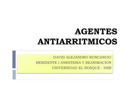 AGENTES ANTIARRITMICOS