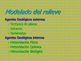 7.Agente geológicos internos
