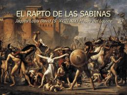 EL RAPTO DE LAS SABINAS Jaques Louis David