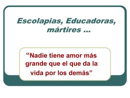 Mártires Escolapias en Valencia