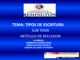 INVESTIGACION TIPOS DE ESCRITURA