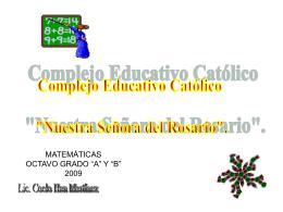 """MATEMÁTICAS NOVENO GRADO """"A"""" Y """"B"""" 2009"""