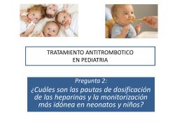 TRATAMIENTO ANTITROMBOTICO EN PEDIATRIA