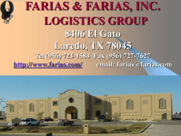 FARIAS LOGISTICS GROUP 8406 El Gato Laredo, TX