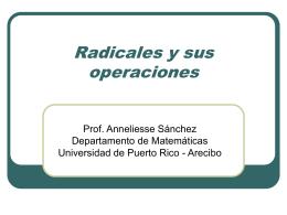 Operaciones con radicales