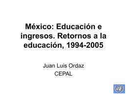 México: Retornos a la educación, 1994-2005