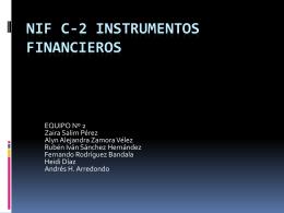 NIF C-2 INSTRUMENTOS FINANCIEROS