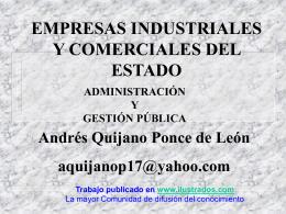Empresas Industriales y Comerciales del Estado