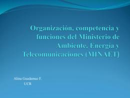 Organización, competencia y funciones del