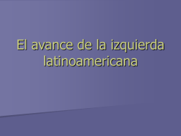 El avance de la izquierda latinoamericana