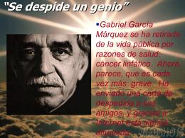 García Marquez. Adiós