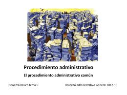 Procedimiento administrativo El procedimiento