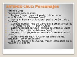 ARTEMIO CRUZ: Personajes