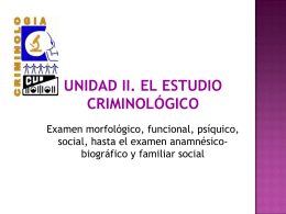 ENTREVISTA - CRIMINOLOGÍA CLÍNICA | Just another
