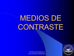 MEDIOS DE CONTRASTE IODADOS - Pixelnet e