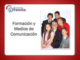 FORMACION Y MEDIOS DE COMUNICACION