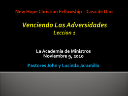 Templo Apostólico San Benito, TX Venciendo Las