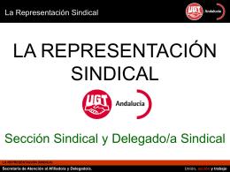LA REPRESENTACIÓN SINDICAL Sección Sindical y