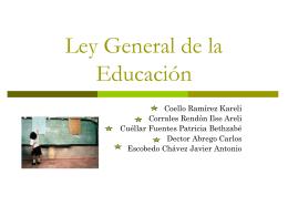 CAPITULO II Del federalismo educativo Sección