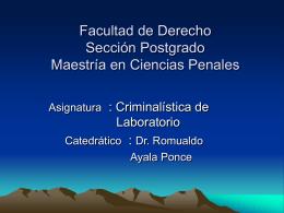Facultad de Derecho y Ciencia Política Sección