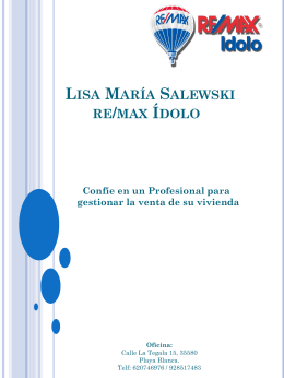 Lisa María Salewski re/max Ídolo