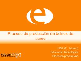 Proceso de producción de bolsos de cuero