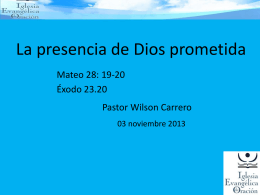 La presencia de Dios prometida