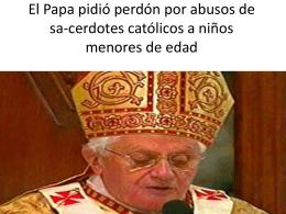 El Papa pidió perdón por abusos de sa