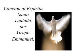 Canción al Espíritu Santo